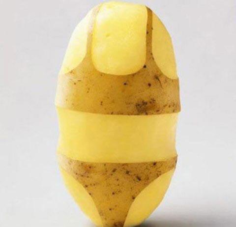 khoai tây và cải bó xôi