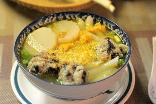 súp nui gạo chả cua 1