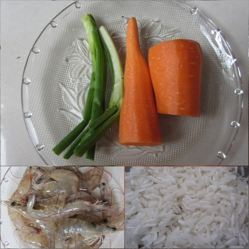 cháo tôm cà rốt 1